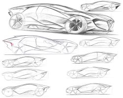 Alfa Romeo sketches by dyrborgdesign