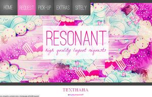 Resonant Layout by sunnyandcloudy