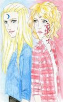 Aphrodite and Stevie Ray by Dinoralp