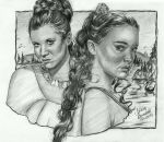 Leia and Padme drawing by AngelinaBenedetti