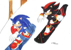 Sonic Snowboard by ayabrea