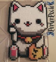 Maneki Neko by PerlerPixie