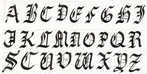 Calligraphy: Gothic Capitals by EnigmaticElocution