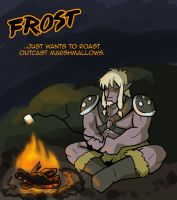 Frost enjoys Marshmallows. by Warlord-of-Noodles