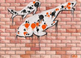 Koi series, Graffitti by Leprikhan