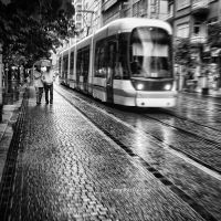 Tram in the Rain.. by pigarot