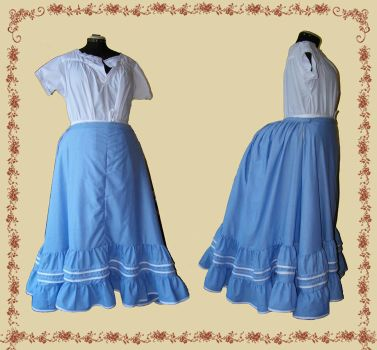 Early Bustle WIP IV: Petticoat by lyhaire