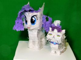 Rarity and Opal Petite Paper Plushies by C-quel