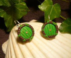 Hobbit Hole - handmade Earrings by Ganjamira