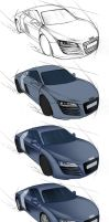 Audi R8 - steps by Lizkay