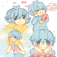 Ducky Sketch Page by pompon-chan