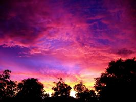 Fiery Pink Sunset 2 Wallpaper by richardxthripp