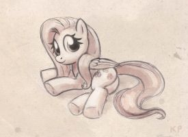Fluttershy sketch by KP-ShadowSquirrel