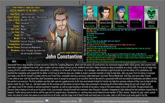 Oracle Files - John Constantine by Roysovitch