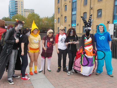 Homestuck group photo by RamenEatingPanda1997