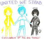 United Children of the Big 3 by hetalialuver123