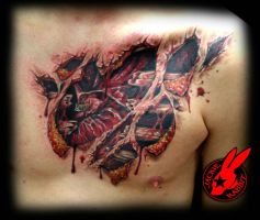 Heart Tear-out Tattoo by Jackie Rabbit (healed) by jackierabbit12