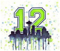 Seattle Seahawks 12th Man Art by Olechka01