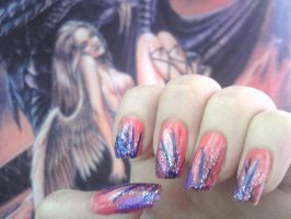 Fairy nails by MorticiaVamp