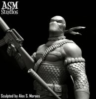 Deathstroke with mask 05 by ASM-studio
