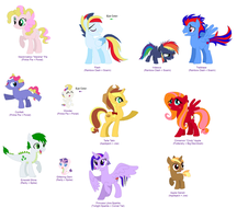 The Children of the Mane 6 (OUTDATED DESIGNS) by srbarker
