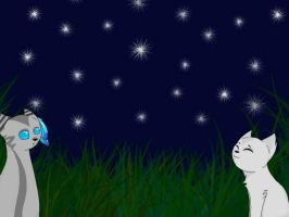 Dovewing and Jayfeather by RykoKat