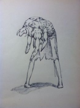 Monster Concept Drawn in Pen by zSnakez