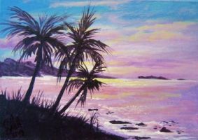 ACEO Peaceful Bay by annieoakley64