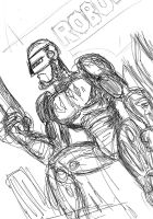 Robocop sketch by VictorHugo