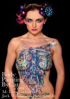 Full Torso Body Glitter Tattoo Bubble Bauble by Bodypaintingbycatdot