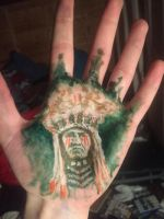 Daily #3 Big chief on little hand by ConorJamesArt