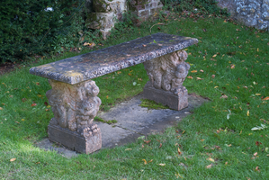DSC06999 Stone Bench Scotney Castle by wintersmagicstock