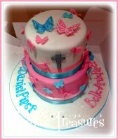 Father, Daughter Christening Cake by gertygetsgangster
