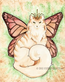 Monarch Kitty by starwoodarts