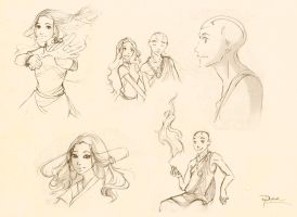 Avatar sketches by palnk