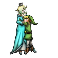 Toon Link x Rosalina - Point Commission by Zeepla