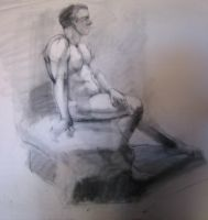 Seated gesture 3 by Darkdesyre
