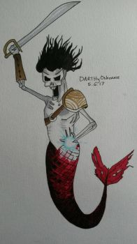 Undead Pirate Merman by DarkMageComet