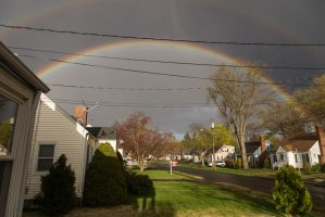 Surprise Suburban Rainbow by froggynaan