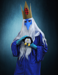 Ice King and Gunter by faithless12