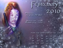 February 2010 desktop calendar by Lirulin-yirth