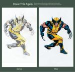 Draw This Again #5 Wolverine by meralc