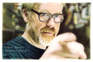 Adam Savage -Ballpoint pen Art by ArtisAllan