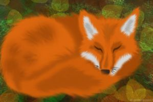 Sleeping Fox by bluesharingan07