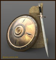 Fantasy Sword and Shield by dreamdesigner442