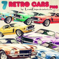 Retro Cars Png by loveelydesigns