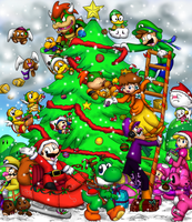 Merry Mario Christmas by Foxeaf