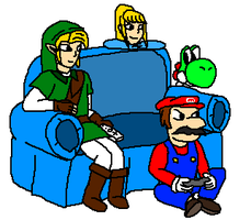 Mario In Metroid Memorial: playing their own games by ppowersteef