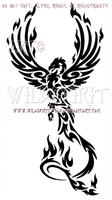 Majestic Tribal Phoenix Design by WildSpiritWolf