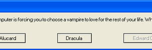 Vampire Error Message by MajesticWolfs